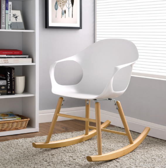 7 White Indoor Modern Rocking Chairs Cute Furniture Modern Rocking Chair White Wooden Rocking Chair Rocking Chair