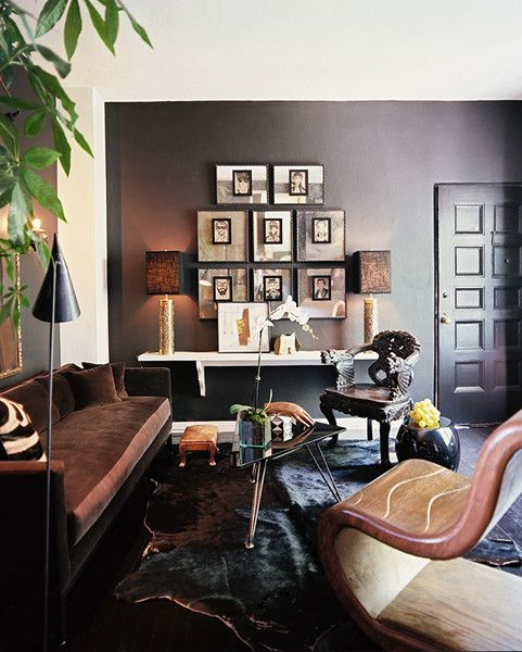 Adam Straus S Moody Masculine L A Apartment Masculine Living Rooms Living Room Designs Eclectic Interior