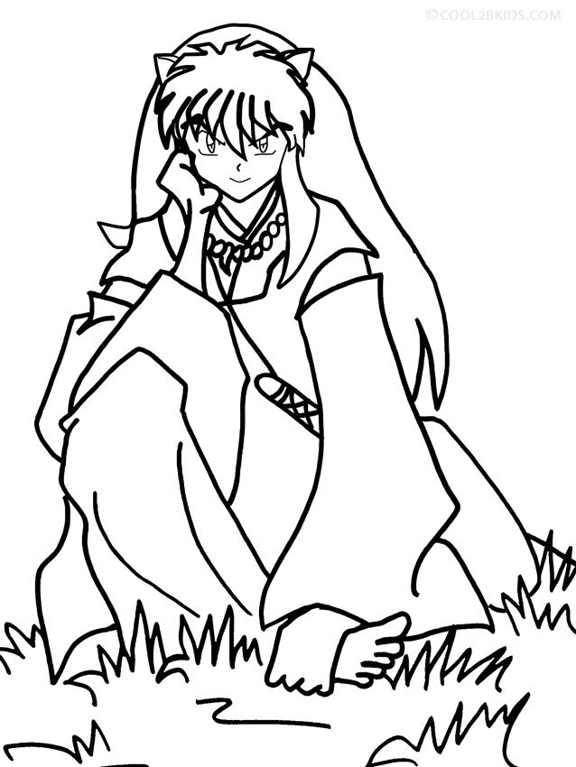 inuyasha printable coloring pages - photo#27
