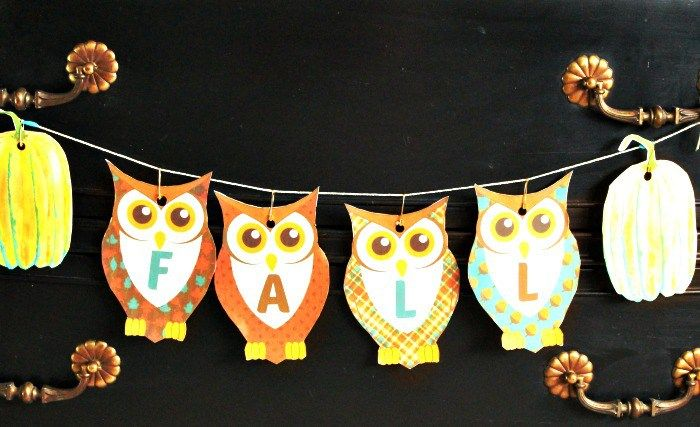 Free Easy to Make Printable Owl Banner for Fall (With ...