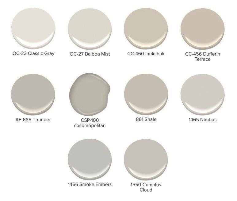 List Of Yellow Undertoned Gray Paint