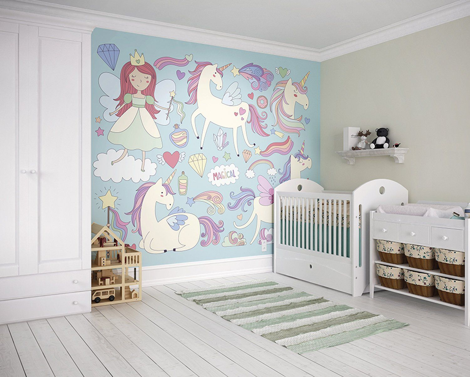 Beautiful Magical Unicorns Wallpaper Mural I Believe In