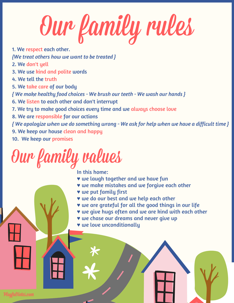 How to create family rules that kids will be happy to follow {+ printable family rules} #parenting