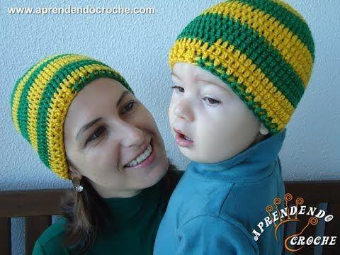 Gorro Crochê Brasil Tal mãe d18269bd23f