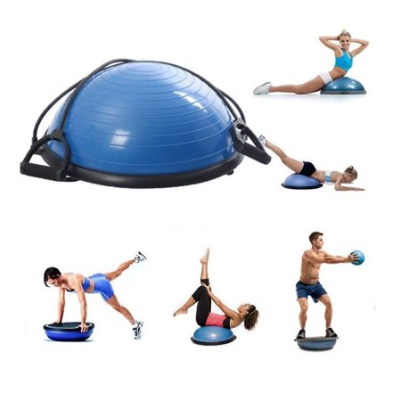 Yoga Balance Ball Trainer Fitness Strength Exercise Workout with Pump