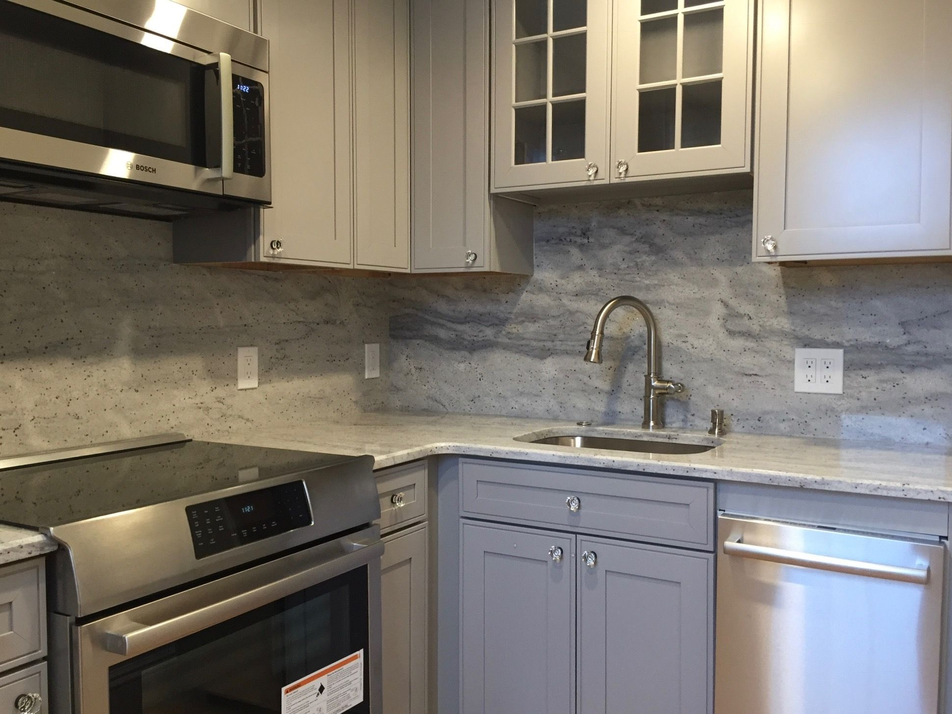 Best Small Kitchen Remodel Pebble Gray Cabinets New River 400 x 300
