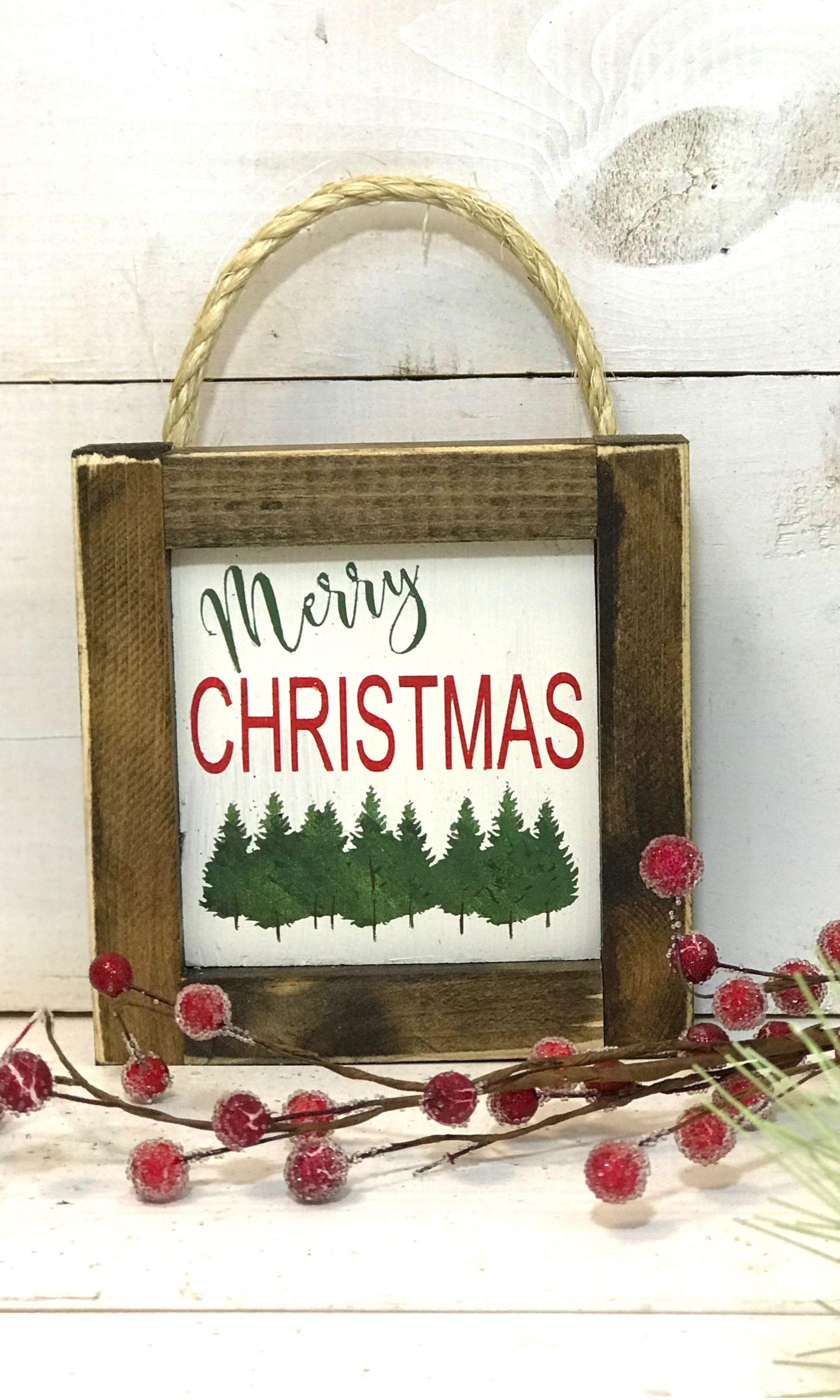 Mini Christmas Sign Farmhouse Christmas Sign Merry