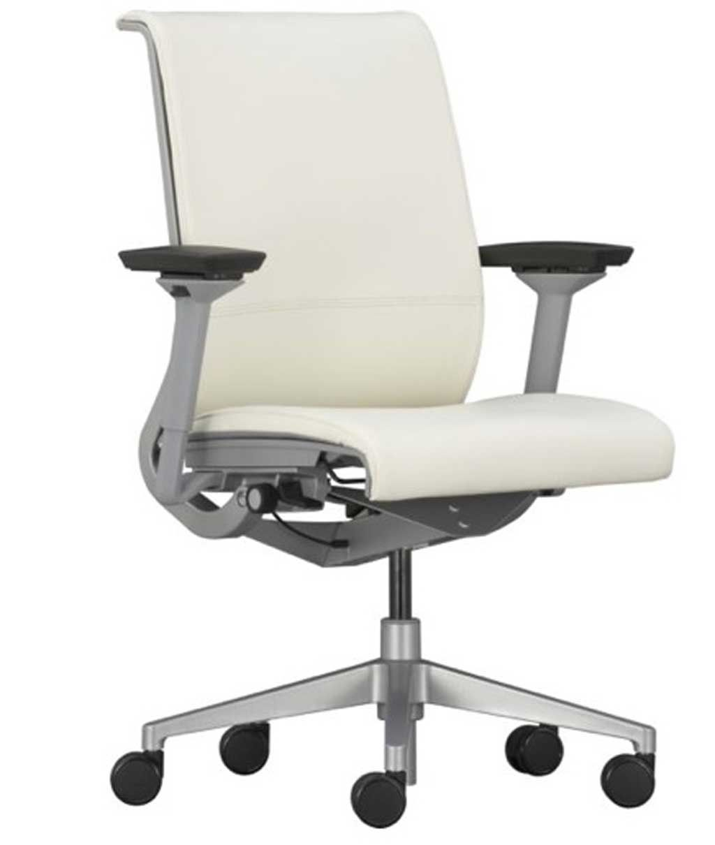 modern genuine white leather office seating designs - Modern Genuine White Leather Office Seating Designs Office Design