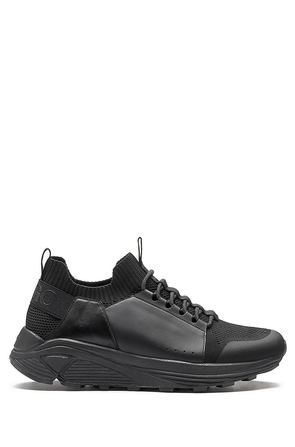 HUGO BOSS Modern lace-up trainers with