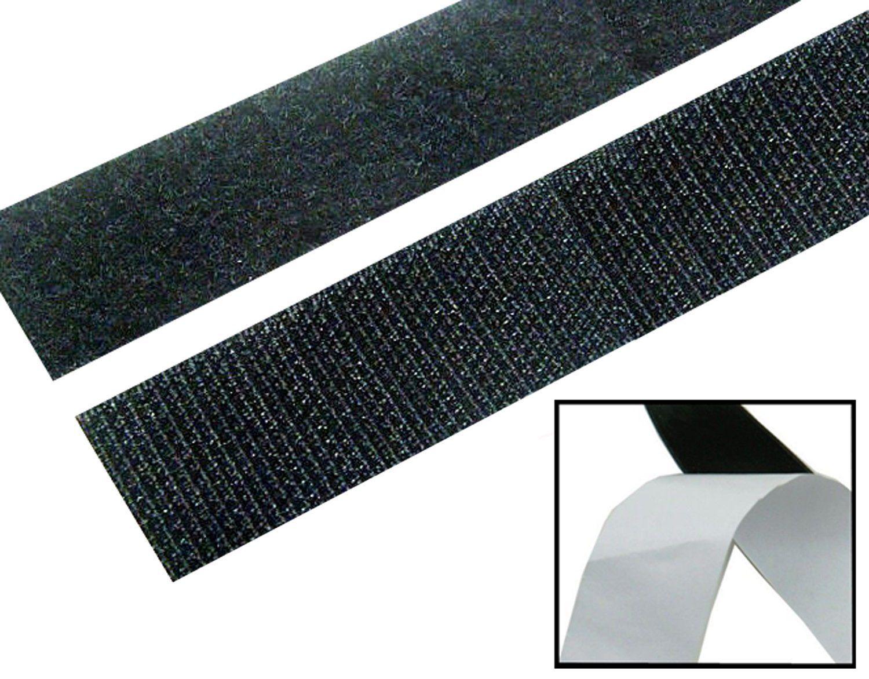 2 Rolls 3Ft Self Adhesive Hook and Loop Tape Sew-On Craft Fastener Tape Eyeful