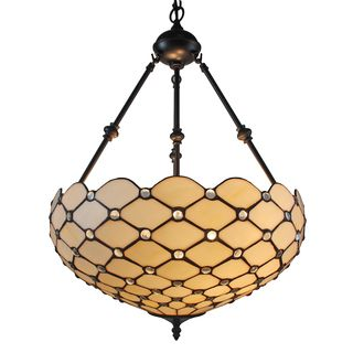 Tiffany style jeweled 18 inch hanging lamp lights chandeliers and tiffany style jeweled 18 inch hanging lamp aloadofball Images