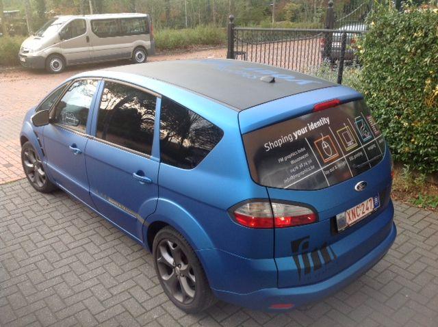 Ford S Max Gewrapped Met 3m Matte Blue Metallic En Black Carbon Echt Jetzt