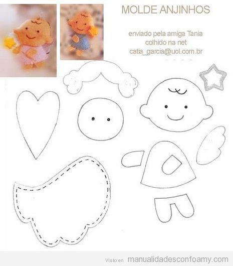 ♫♪*Molde para hacer angelitos de goma eva*•♫♪ http ...