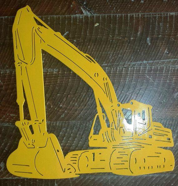 Custom Metal Excavator Tracked Back Hoe Wall Art, Wall Hanging ...