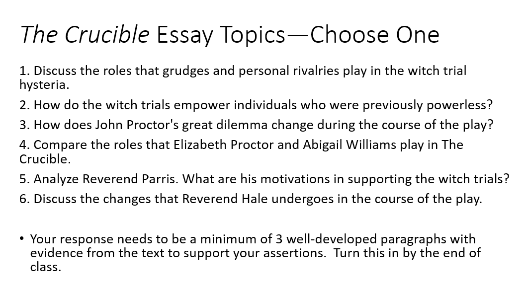 Pin On Essay Of The Crucible