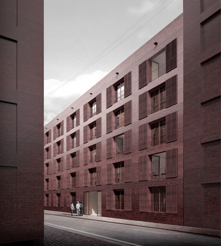 Werkbundstadt fassade pinterest architektur - Architekturvisualisierung berlin ...