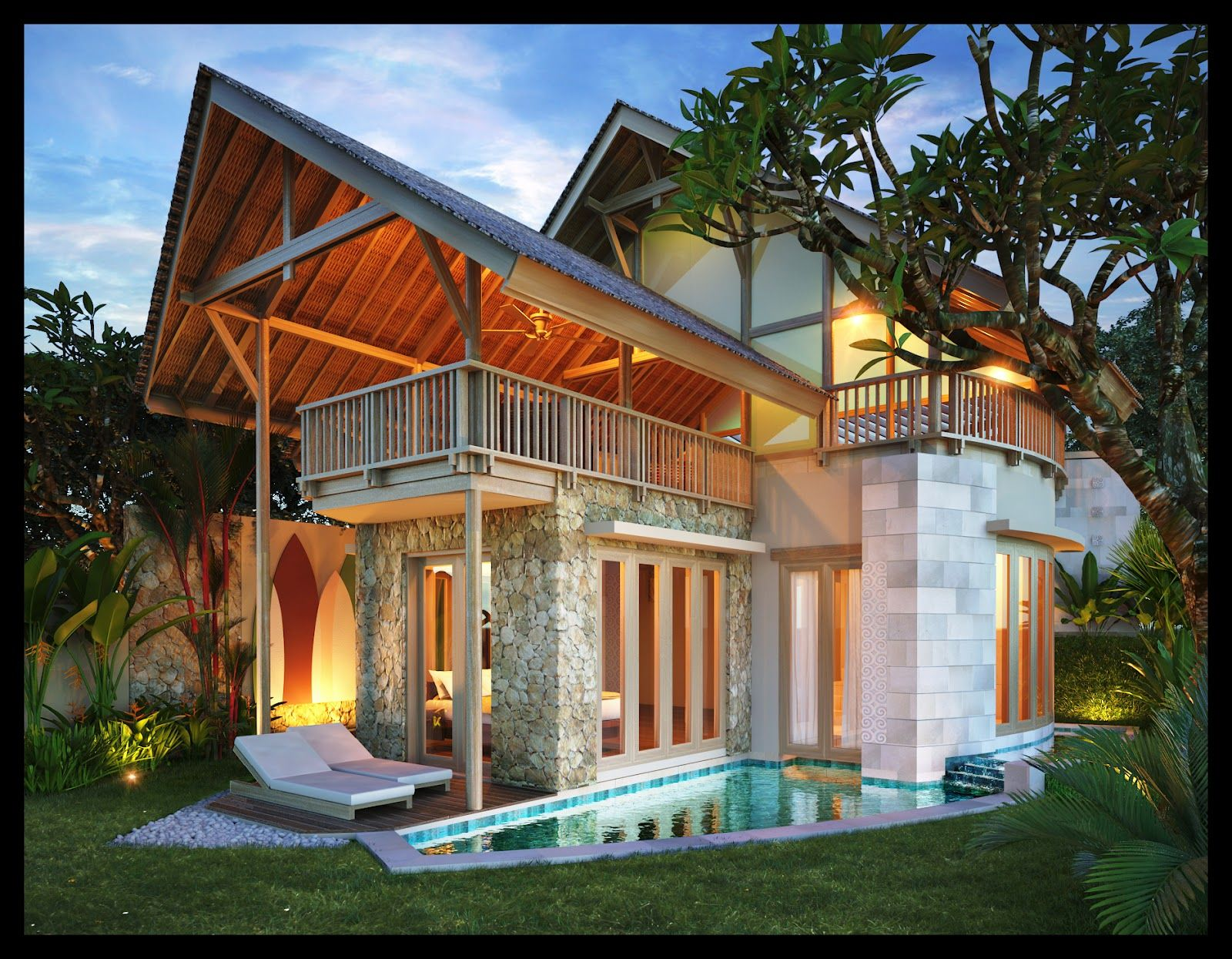 Balinese Houses Designs Home Design Ideas Inexpensive House Plans Beach House Design Tropical House Design Modern Tropical House