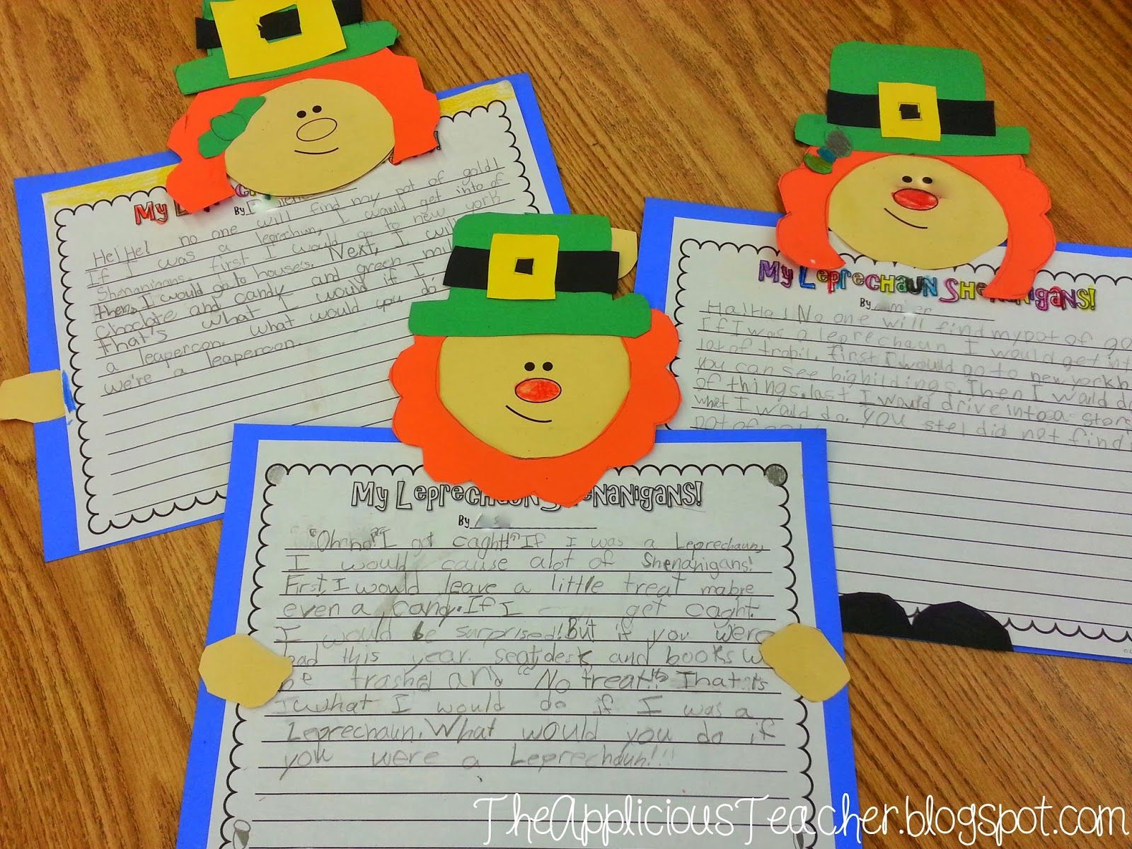 Cute Writing Craft Idea For St Patrick S Day Students