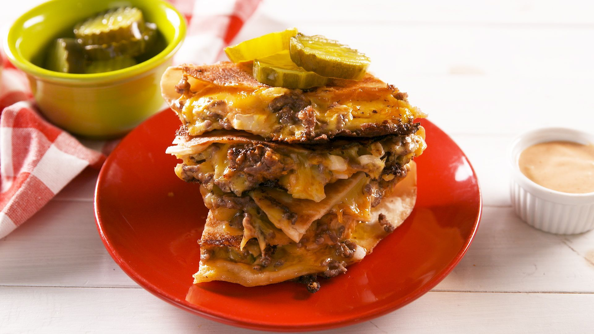 Big Mac Quesadillas 5 Trending Recipes With Videos Recipe Weeknight Dinner Recipes Easy Quesadilla Recipes
