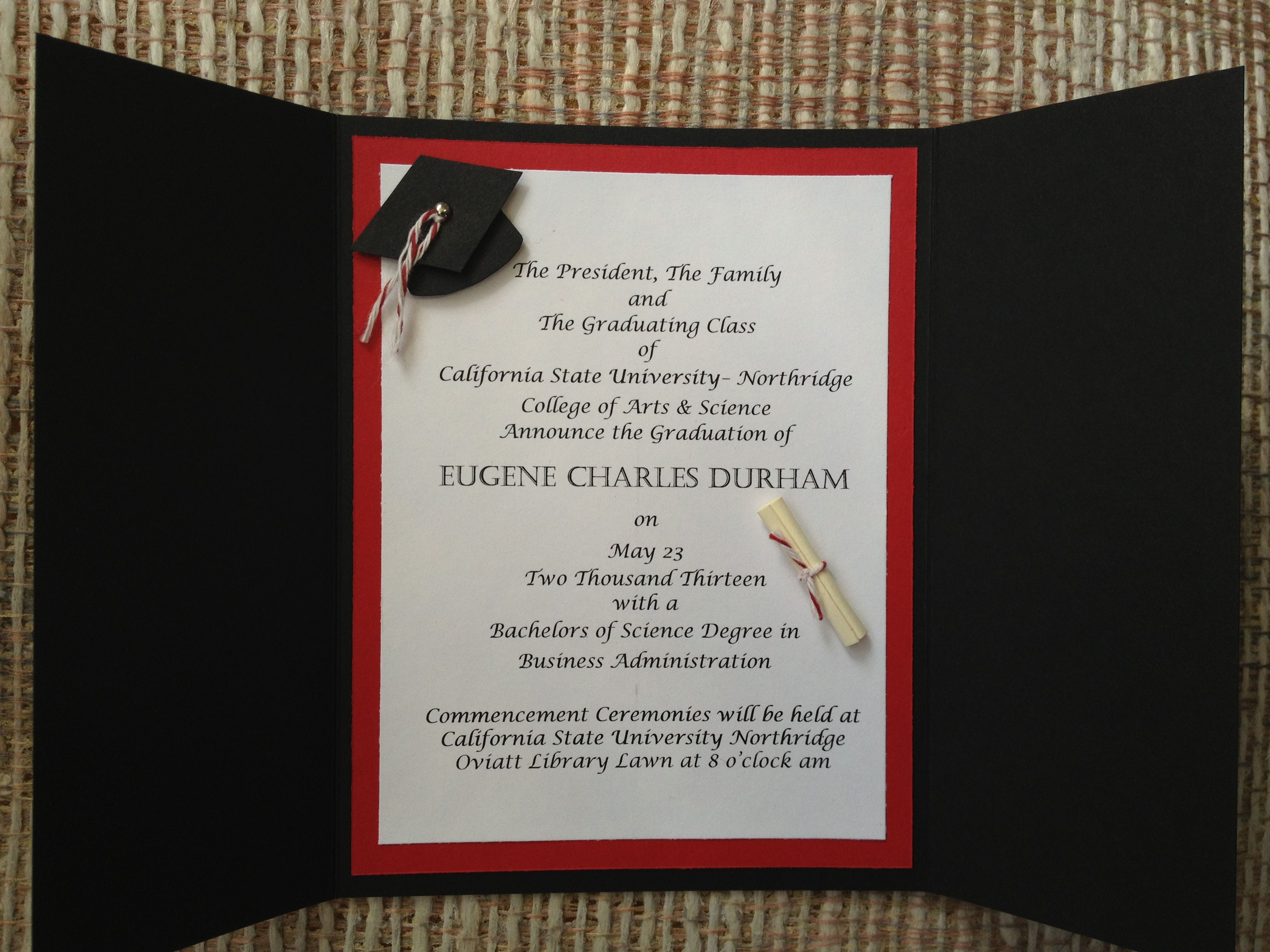 Best Graduation Announcements Images On   Graduation