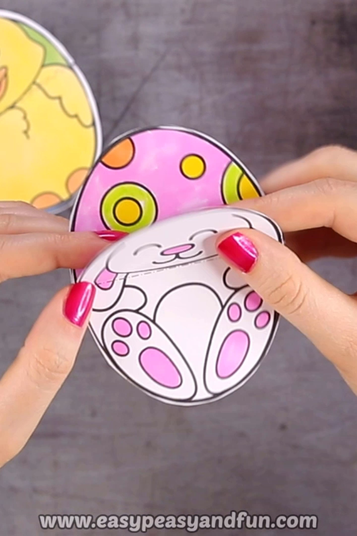 Printable Easter Egg Paper Toy - Easter Craft for Kids
