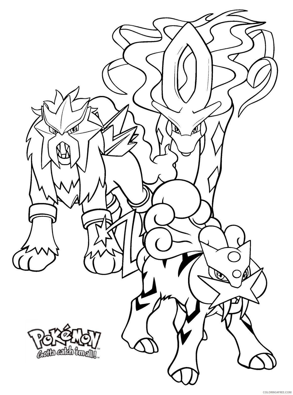 Pokemon Coloring Pages Entei With Images Pokemon Coloring