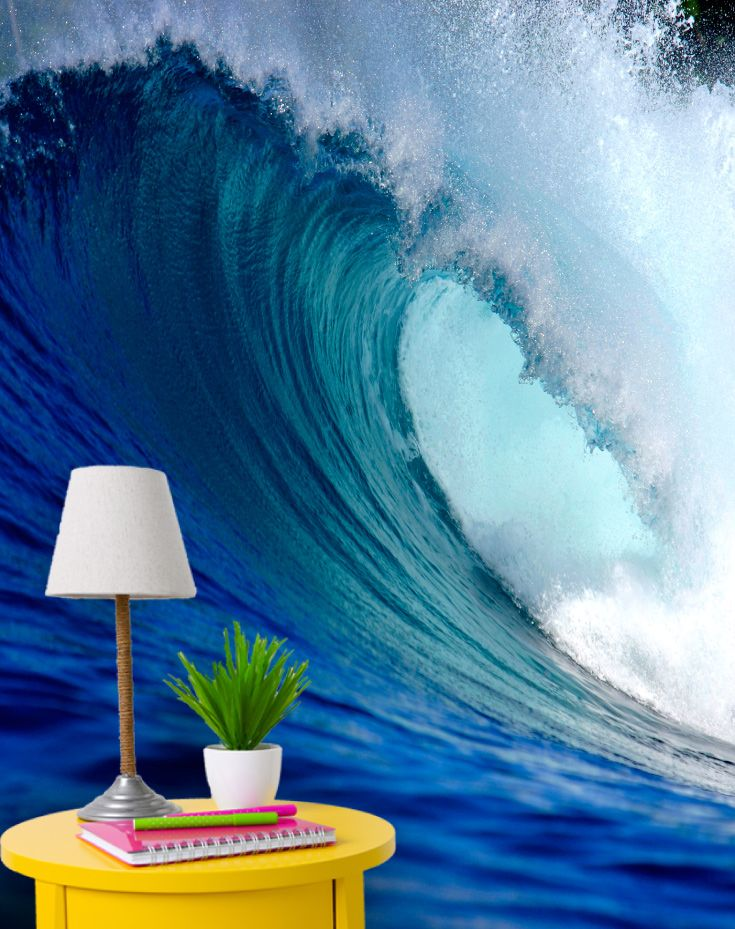 surfers paradise blue surfing wave breaking on a tropical island rh pinterest com