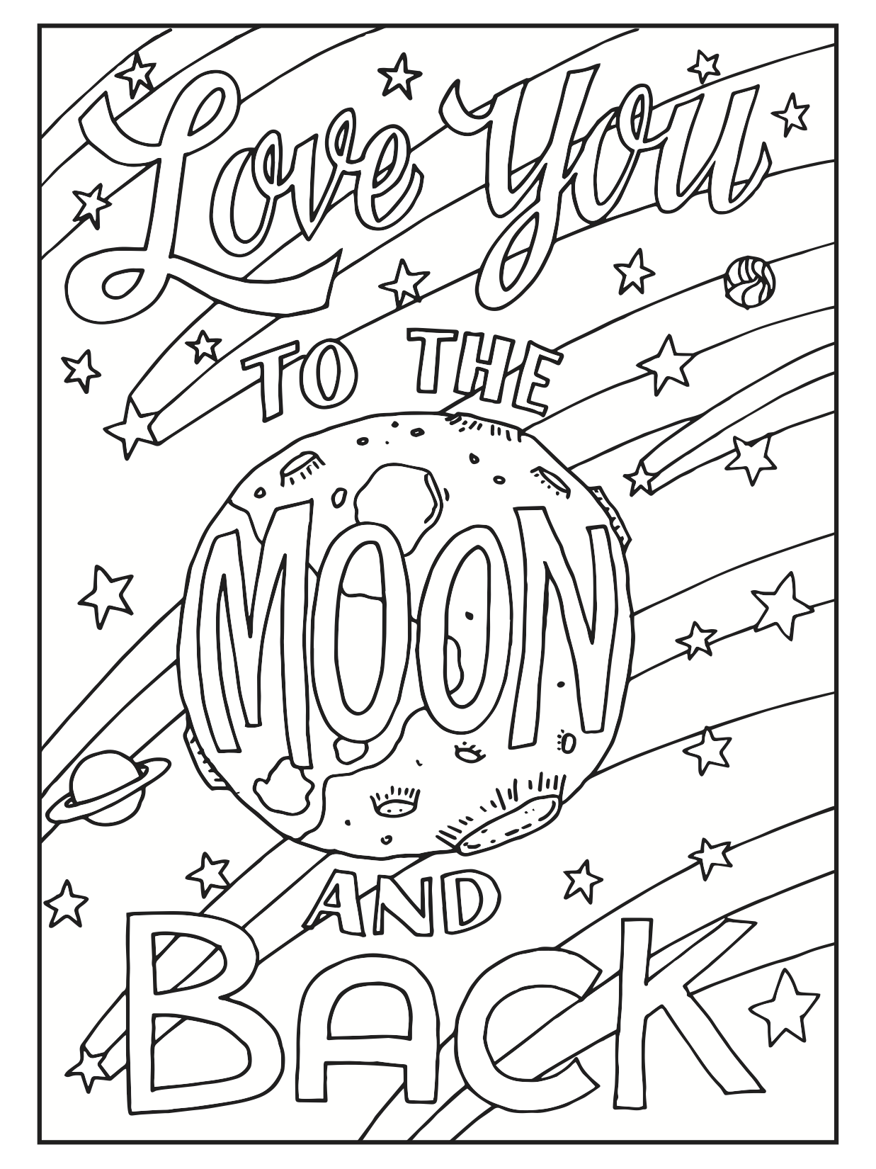 Choose from a variety of free coloring pages from our coloring book creative quotes freeprintable nationalcoloringbookday loveyou moonandback
