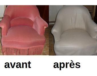 relooking d 39 un fauteuil crapaud pour 15 fauteuil recouvrir diy tutos pinterest. Black Bedroom Furniture Sets. Home Design Ideas