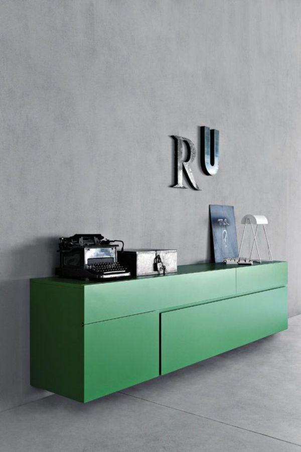 Sideboard Hangend An Der Wand Fur Eine Schicke Zimmerausstattung