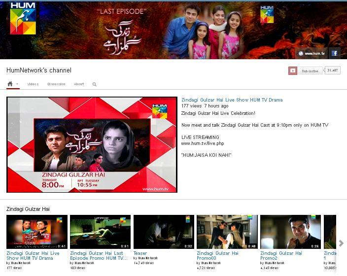 www.youtube.com.humnetwork                       ZINDAGI GULZAR HAI | PAKISTANI DRAMAS | DRAMA PAKISTANI | LIVE SHOW | JAGO PAKISTAN JAGO | YOUTUBE | FAWAD KHAN | SANAM SAEED | ZAROON | KASHAF | Hum TV Dramas | Hum Tv Pakistani Dramas | Hum TV Official | HUM LIVE TV | Hum Dramas Picture and Video Gallery | Hum TV Video Archive | Hum TV Online. For More visit our website www.hum.tv www.facebook.com/zindagigulzarhai