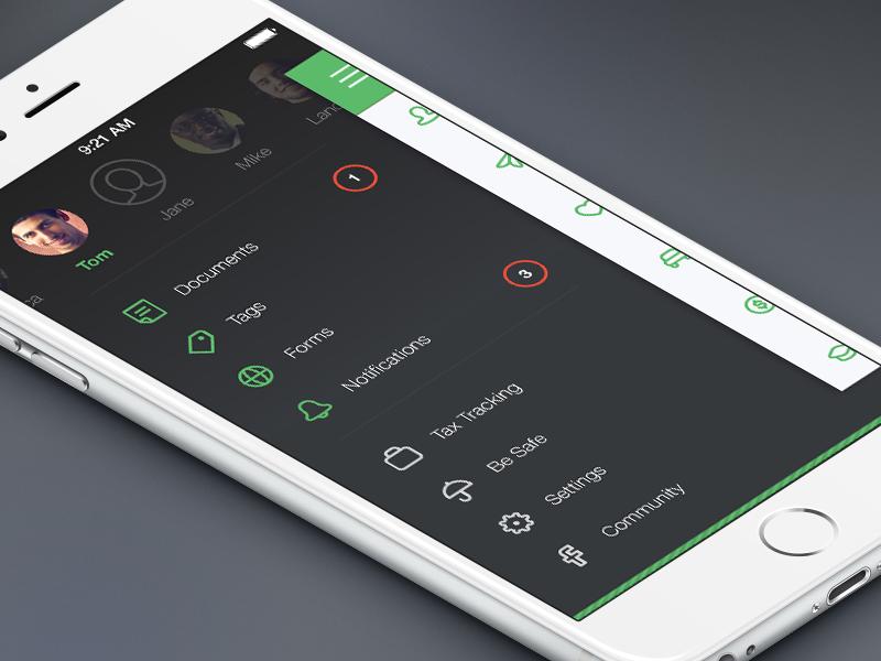 Zoomlee Sidebar Menu Mobile App Design Kiosk Design App Design