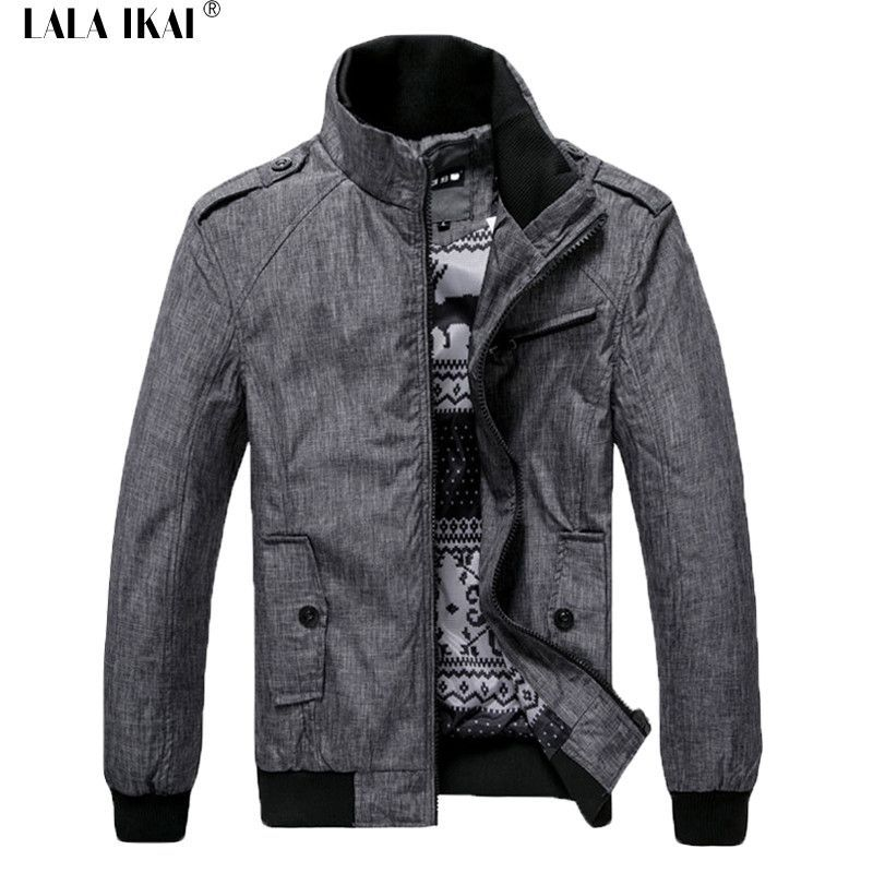 Soft Spring Windrunner Stand Collar Men Casual Jackets