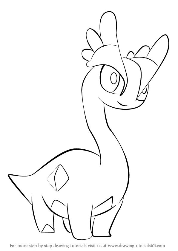 Amaura Is A Blue Color Character From Pokemon It Is A Calm Nature Pokemon In This Tutorial W Pokemon Coloring Pokemon Coloring Pages Pokemon Coloring Sheets