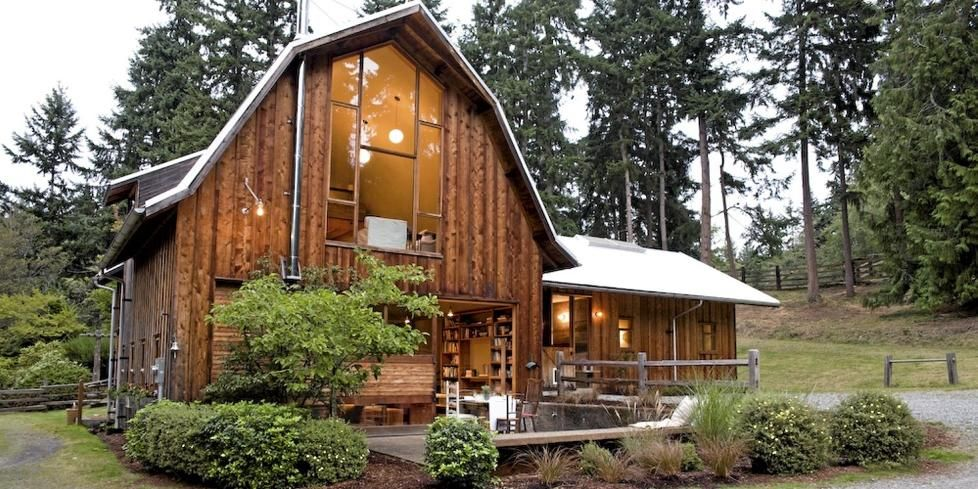 Old barn turned into sick house - I love repurposed buildings for houses!