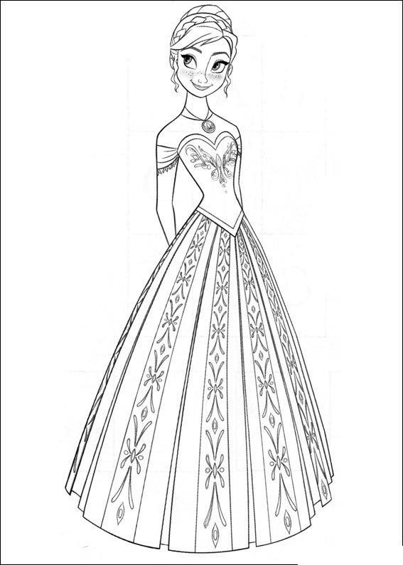 Eisprinzessin Elsa Malvorlage Malvorlage Prinzessin Kinderfarben Ausmalbilder