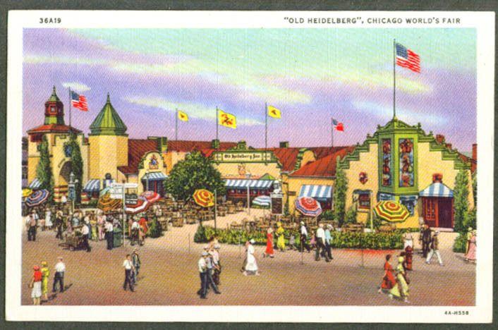 Old Heidelberg at Century of Progress 1933 postcard