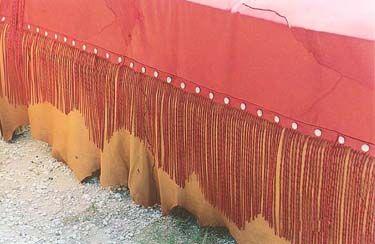 leather bed skirt western decor custom leather