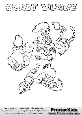 skylanders coloring pages freeze blade - photo#18