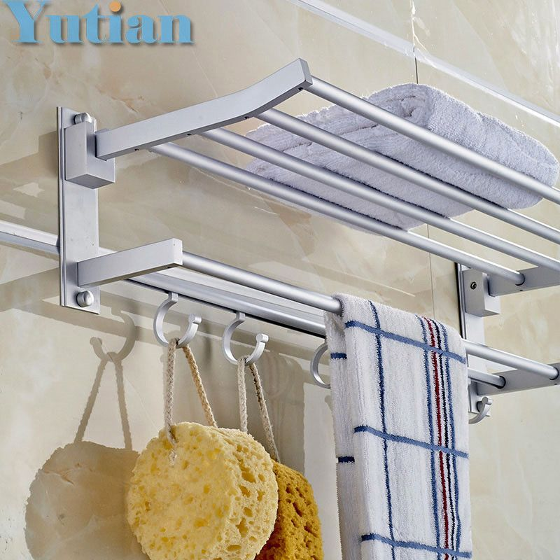 Bathroom Towel Holder Foldable Towel Rack Oxidation Aluminium