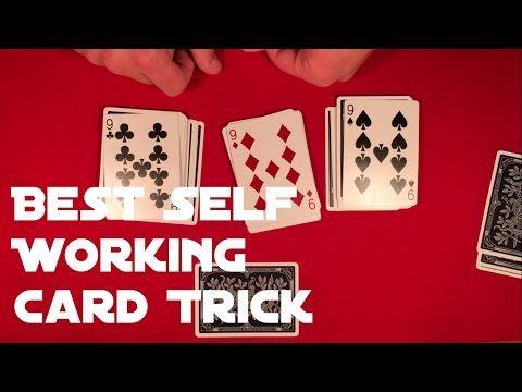 Best Self Working Card Trick Tutorial Youtube Easy Magic Card