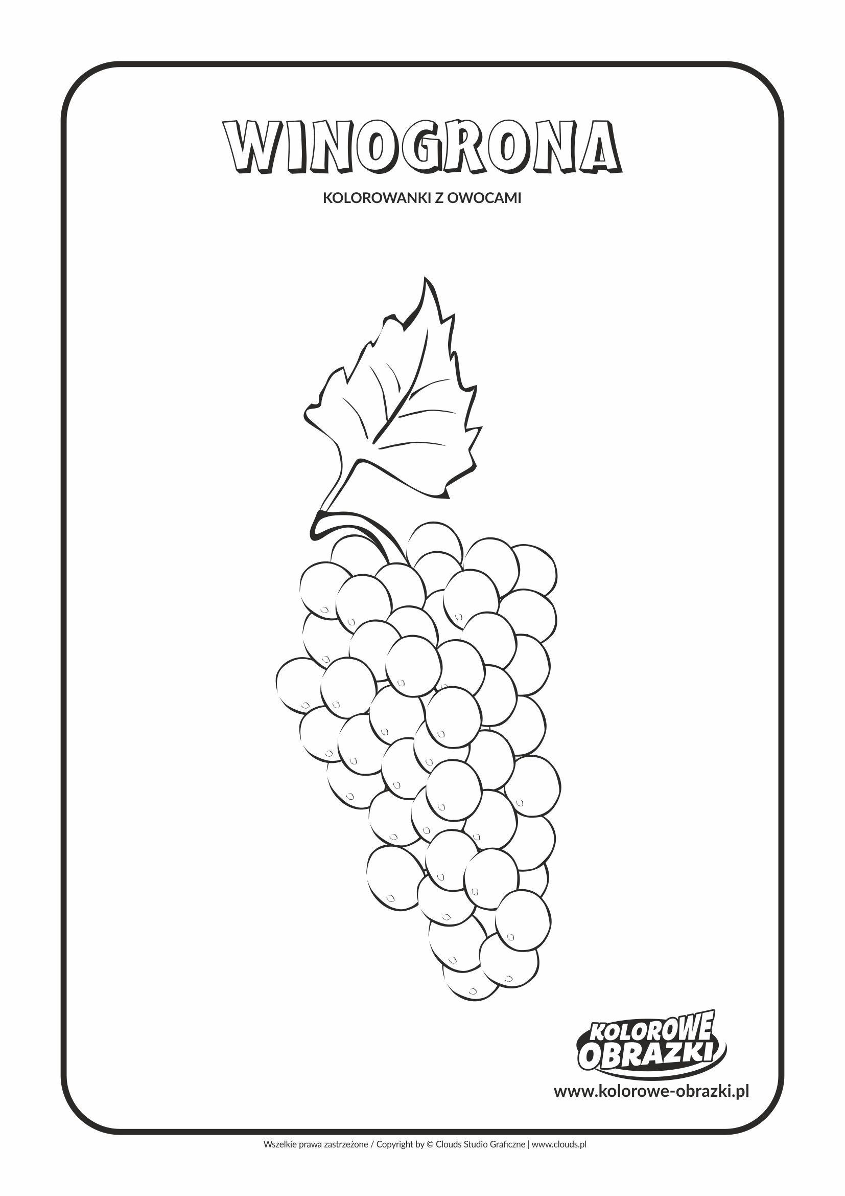 Winogrona Kolorowanki Owoce Kolorowanki Dla Dzieci Words Word Search Puzzle