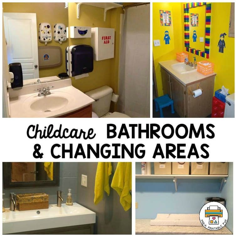 A Collection Of Childcare Bathrooms, And Changing Areas