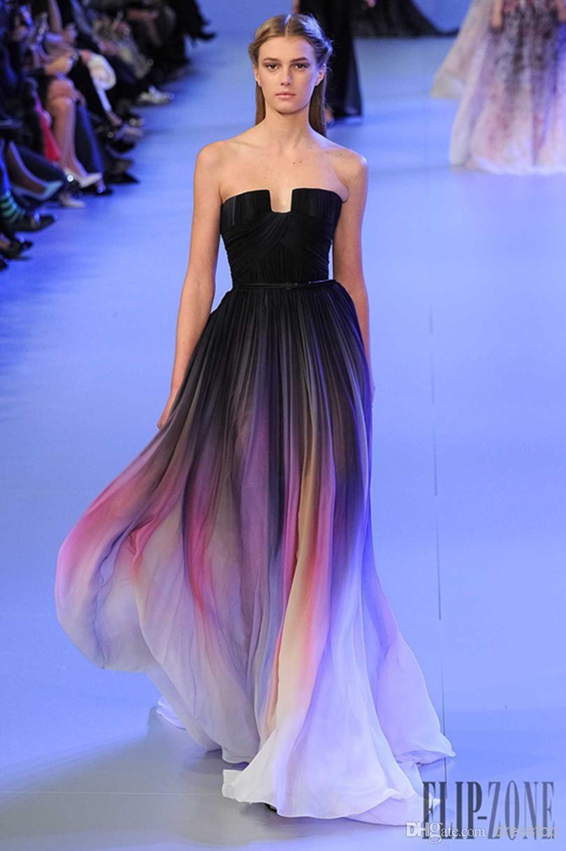 black rami salamoun split prom dresses long appliqued sheer