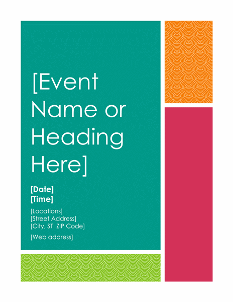 event flyer templates word