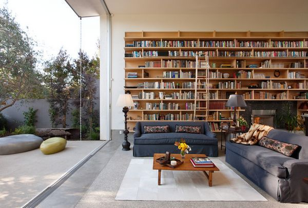 62 Home Library Design Ideas With Stunning Visual Effect  Library New Living Room Library Design Design Decoration