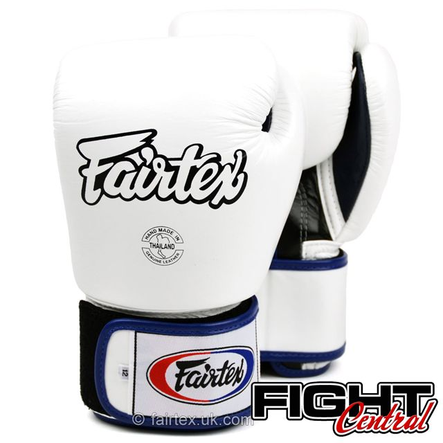 Fairtex 3 tone White boxing gloves available at www.fight-central.co.uk