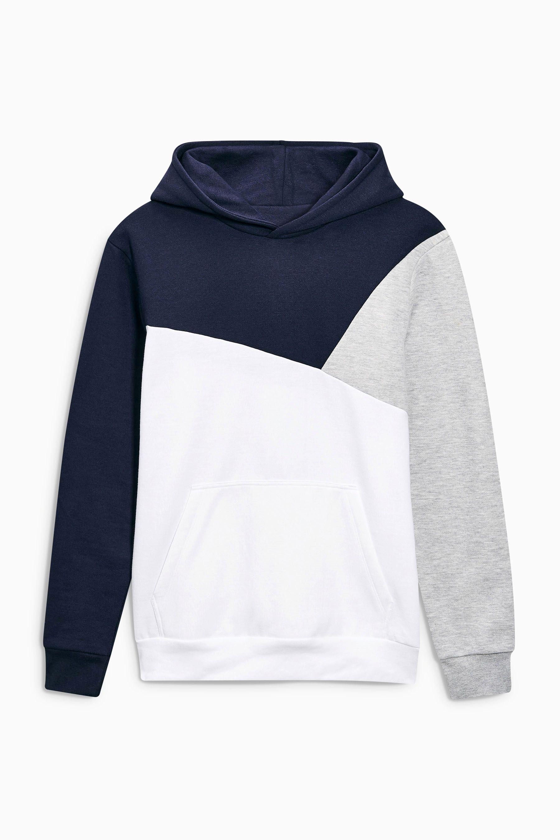 Comprar Sudadera con capucha y diseño de patchwork en azul marino online  hoy en Next  España ab2db4a8176b