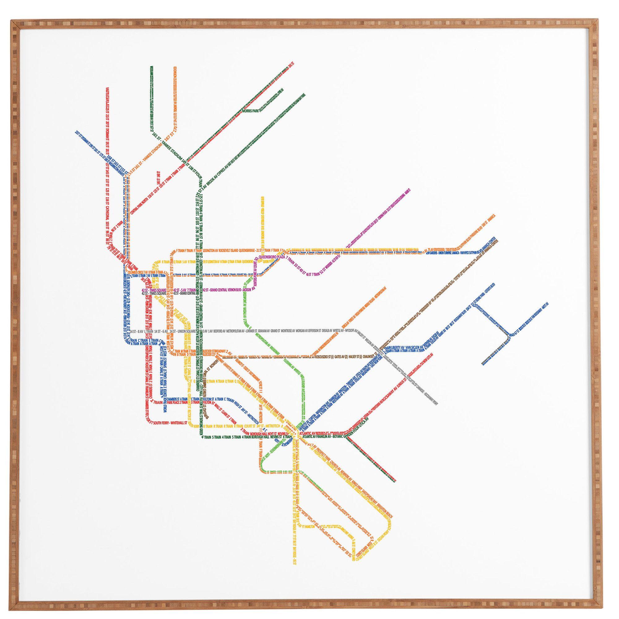 Blank Nyc Subway Map.Nyc Subway Map Framed Wall Art Products Framed Wall Art Frames