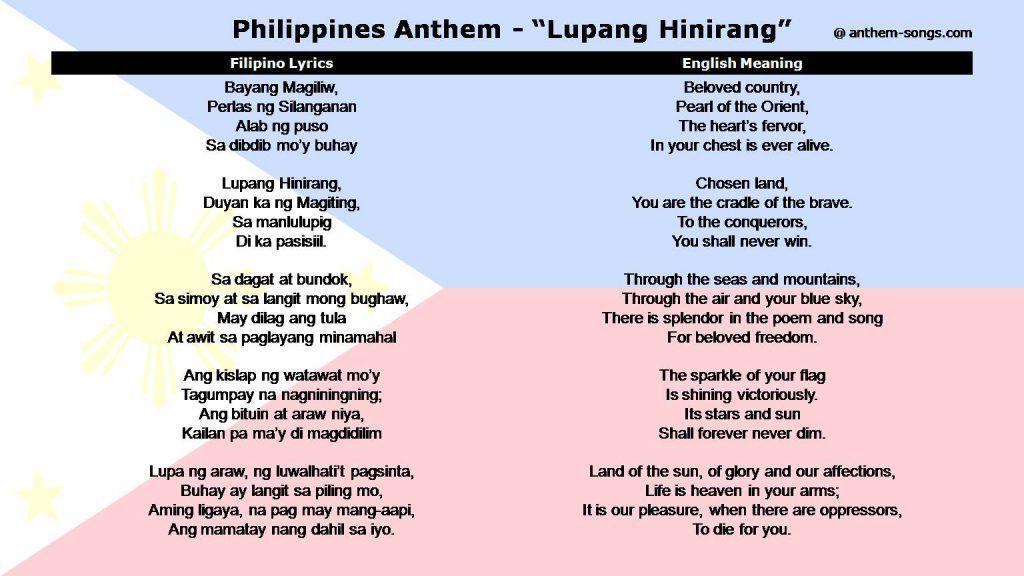 Image result for philippines national anthem | My Ancestors